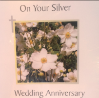 On your silver wedding anniversary.